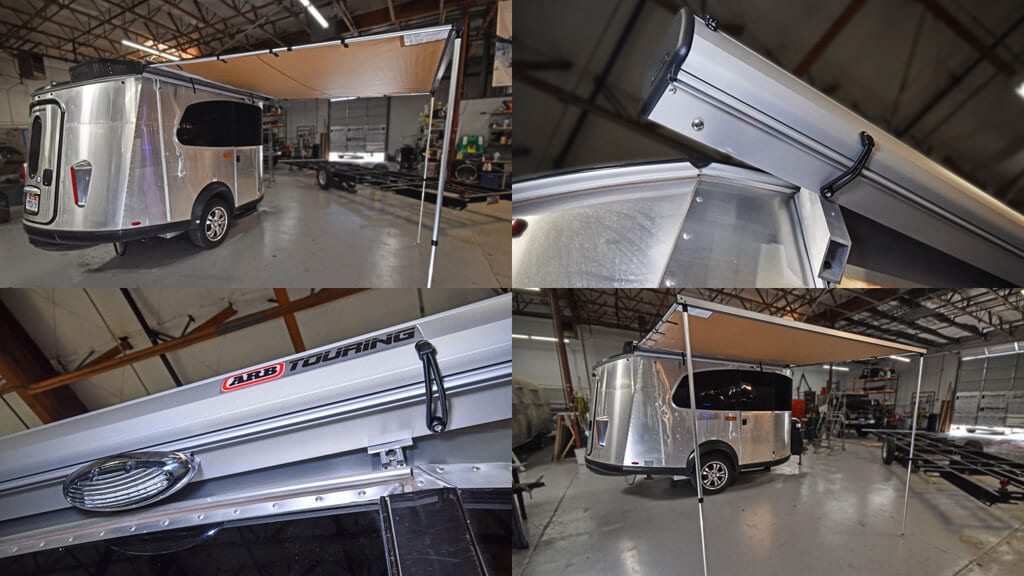 ARB Awning installed on an Airstream Basecamp