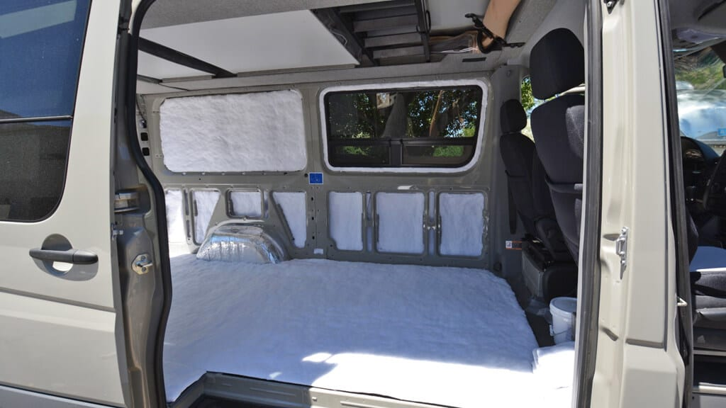 Sprinter van with 3M Thinsulate synthetic insulation