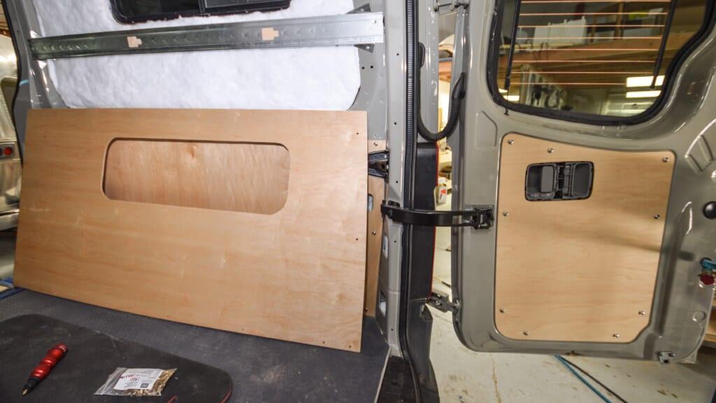 Sprinter Van interior walls fastened with rivnuts