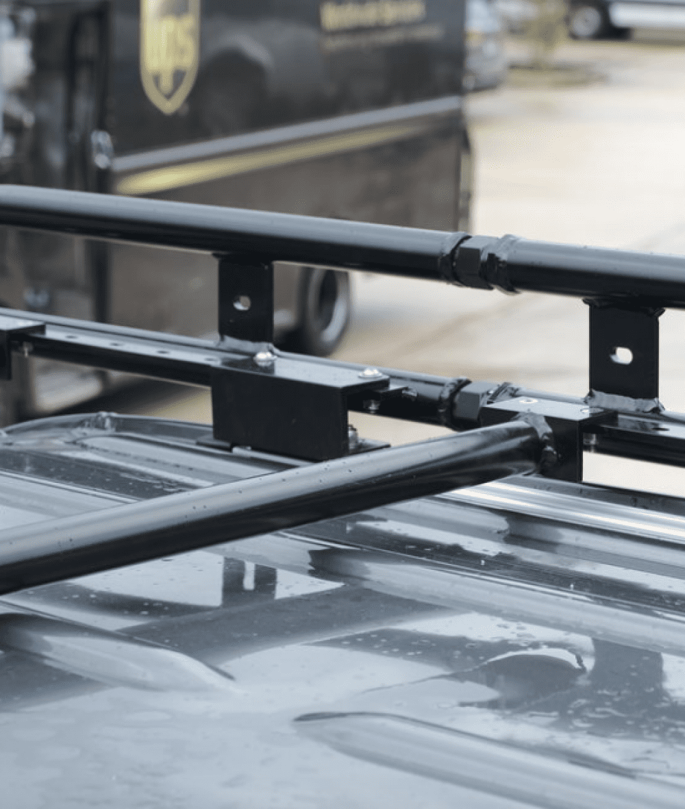 The Owl Vans Roof Rack is lightweight and durable