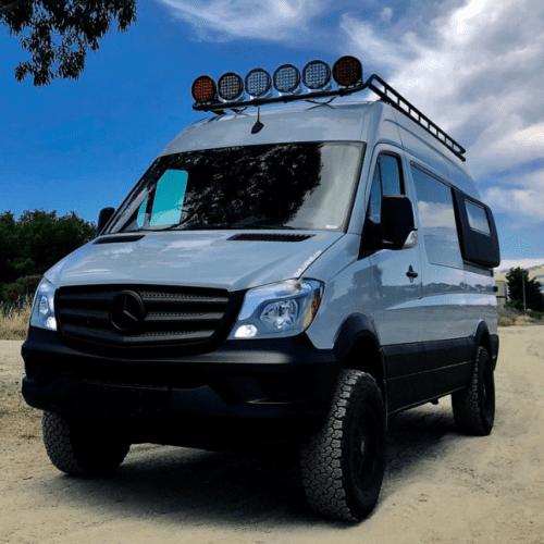 The Owl Vans Roof Rack is the lightweight rack.