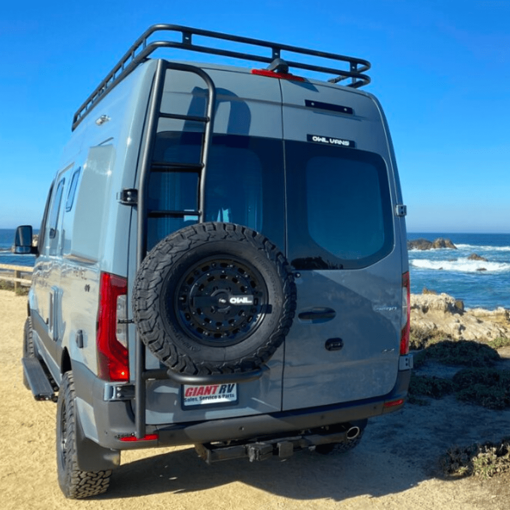 The Owl Ladder + Spare Tire Carrier at the beach